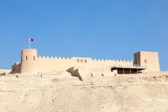 Riffa fort i Bahrain Arkivbilder