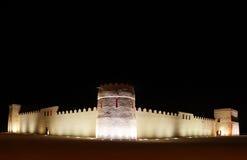 Riffa fort at night, Bahrain Stock Photos