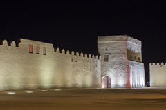 Riffa Fort at night, Kingdom of Bahrain Royalty Free Stock Photo