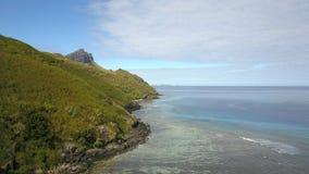 Riffe von Waya-Insel in Fidschi Stockfotografie