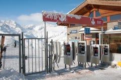 Riffelberg滑雪岗位 免版税图库摄影