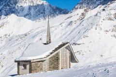 Riffelberg chapel Royalty Free Stock Photography