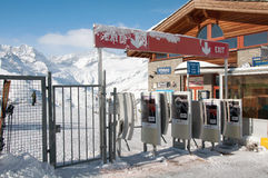 Riffelberg ski station. Riffelberg is one of ski stations in Alps, Switzerland royalty free stock photography