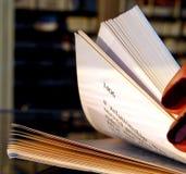 Riffling through a book royalty free stock photo