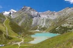 Rifflsee en Austria fotos de archivo