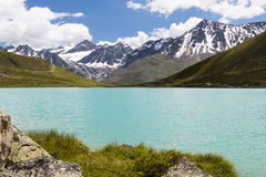 Rifflsee and Oetztal Alps in Austria Royalty Free Stock Photo