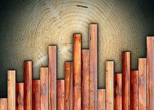 Rifinitura del legno interessante illustrazione vettoriale
