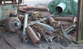 Rifiuti arrugginiti del metallo Fotografie Stock