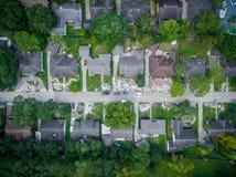 Rifiuti e detriti fuori delle case di Houston Fotografia Stock Libera da Diritti