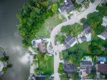 Rifiuti e detriti fuori delle case di Houston Immagini Stock Libere da Diritti