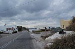 Rifiuti, Santorini fuori dalla pista battuta, Grecia Immagini Stock Libere da Diritti