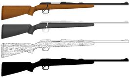Rifle ilustração stock