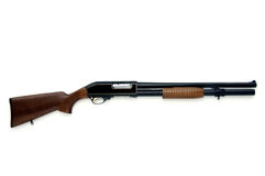 Rifle. Isolated at white background stock photos