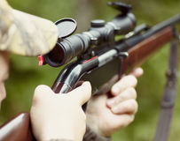 Rifle aiming Stock Image
