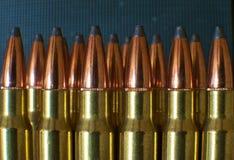 Rifle ammunition 006. Close-up of 308 Rifle ammunition Stock Images