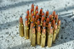 Rifle ammunition 007 Stock Photo