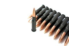 Rifle Ammunition Stock Photo