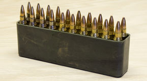 Rifle ammunition Stock Photography