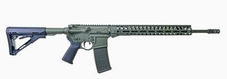 Rifle AR15 com pintura do verde da folha Fotos de Stock