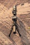 Rifle ar15 de Midlenght fotografía de archivo