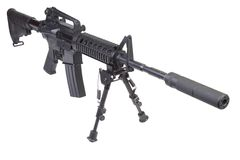 Rifle with bipod Royalty Free Stock Photos