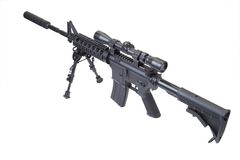 Rifle with bipod Royalty Free Stock Photo