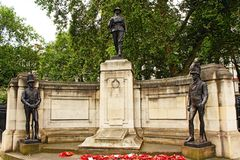 Rifle Brigade War Memorial in London England. The Rifle Brigade War Memorial in London commemorates the service of the Rifle Brigade in the First and Second Stock Image