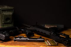 Rifle broken down Royalty Free Stock Image