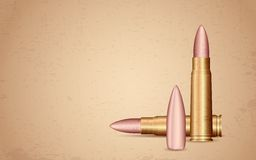 Rifle Bullet on Grungy Background Stock Photo