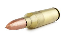 Rifle bullet isolated on the white background Stock Photography