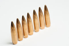 Rifle bullet tips Stock Images