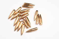 Rifle bullet tips Royalty Free Stock Image