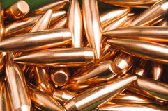 Rifle bullet tips Royalty Free Stock Photography