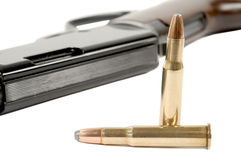 Rifle and Bullets Royalty Free Stock Photography