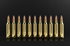 Rifle Bullets Royalty Free Stock Images