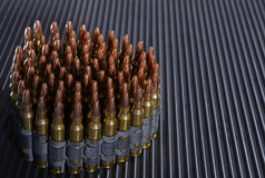 Rifle bullets Stock Photo