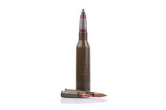 Rifle bullets Stock Photography