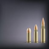 Rifle bullets. Royalty Free Stock Photo