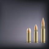 Rifle bullets. Royalty Free Stock Photo