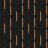 Rifle Bullets pattern background Royalty Free Stock Photos