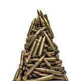 Rifle bullets peak. 3D render of piled rifle bullets Royalty Free Stock Photography