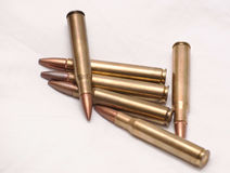 30.06 rifle bullets piled together Royalty Free Stock Photos