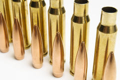 Rifle bullets separated Stock Images