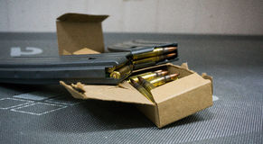 Rifle and bullets Royalty Free Stock Image