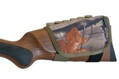 Rifle Buttstock Cartridge Holder, close up. Rifle Buttstock Cartridge Holder, isolated Stock Photos
