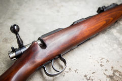 Rifle. 22 Cal long rifle close up Stock Photos
