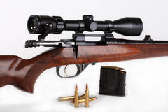 Rifle, calibre 223 Rem Royalty Free Stock Photos