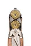 Rifle carregado closeup Isolado no branco Fotografia de Stock