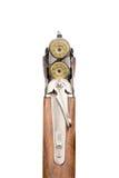 Rifle carregado com balas Isolado foto de stock