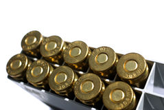 Rifle cartridges. In a pack, .308 caliber stock photo